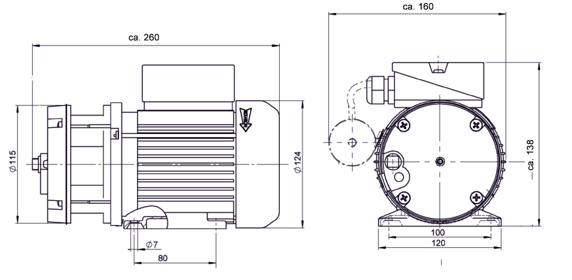 Fabulous Rotary Vane Pump Base Vd6 100 L Min 0 8 Bar 880 Mbar Wiring Digital Resources Indicompassionincorg