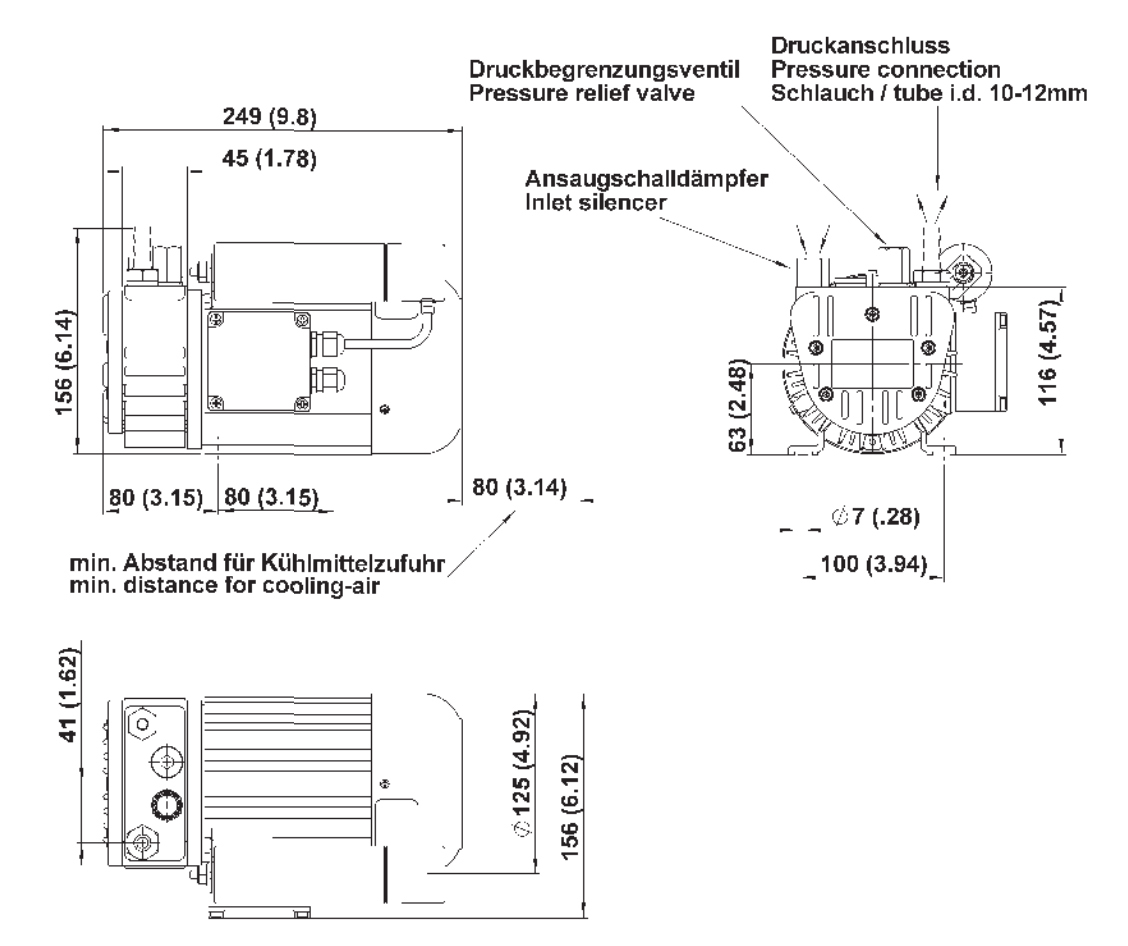 rotary vane pump picolino dte 8 m h 133 l min 0 8 bar 230v oil free rh metzger technik shop de vane pump parts name vane pump parts name