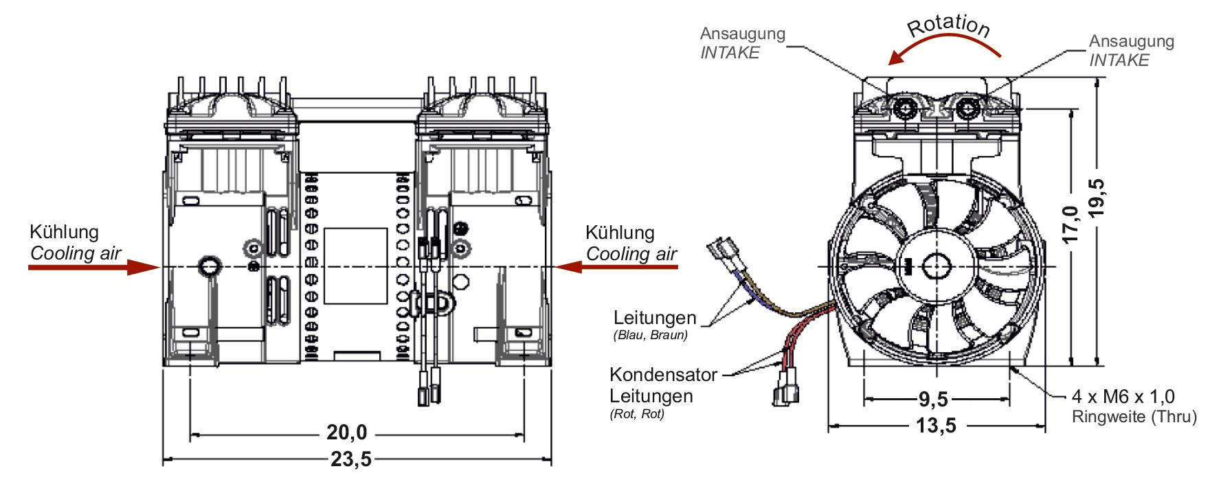 Kolbenpumpe E 160 | 124 l/min | -910 mbar | 230V