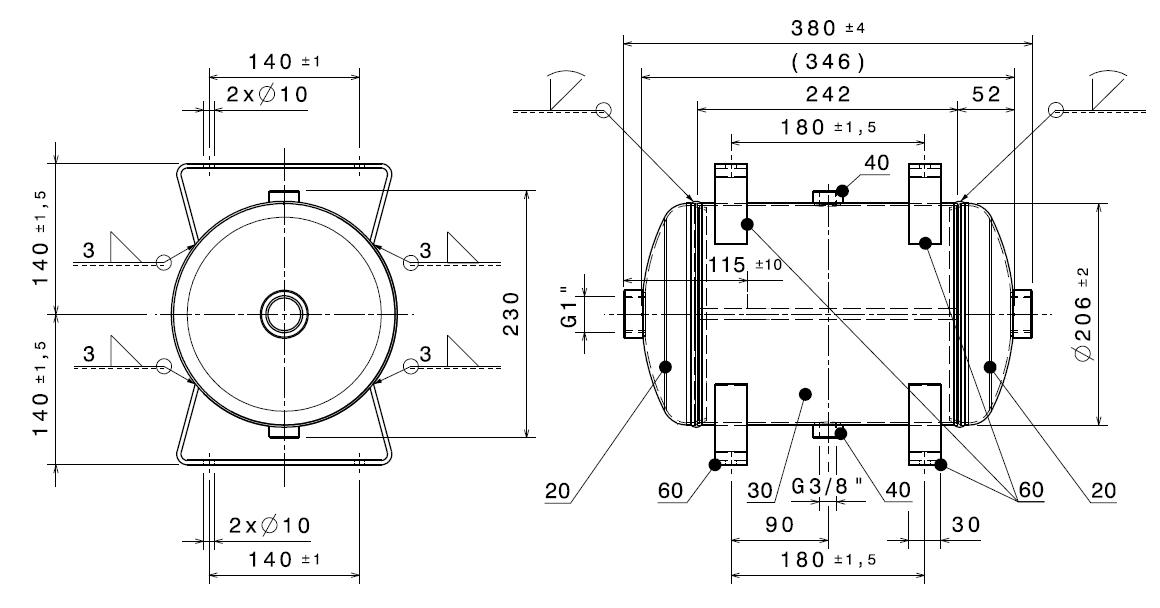 Druckbehälter D=206, 10L schwarz - Metzger-Technik-Shop